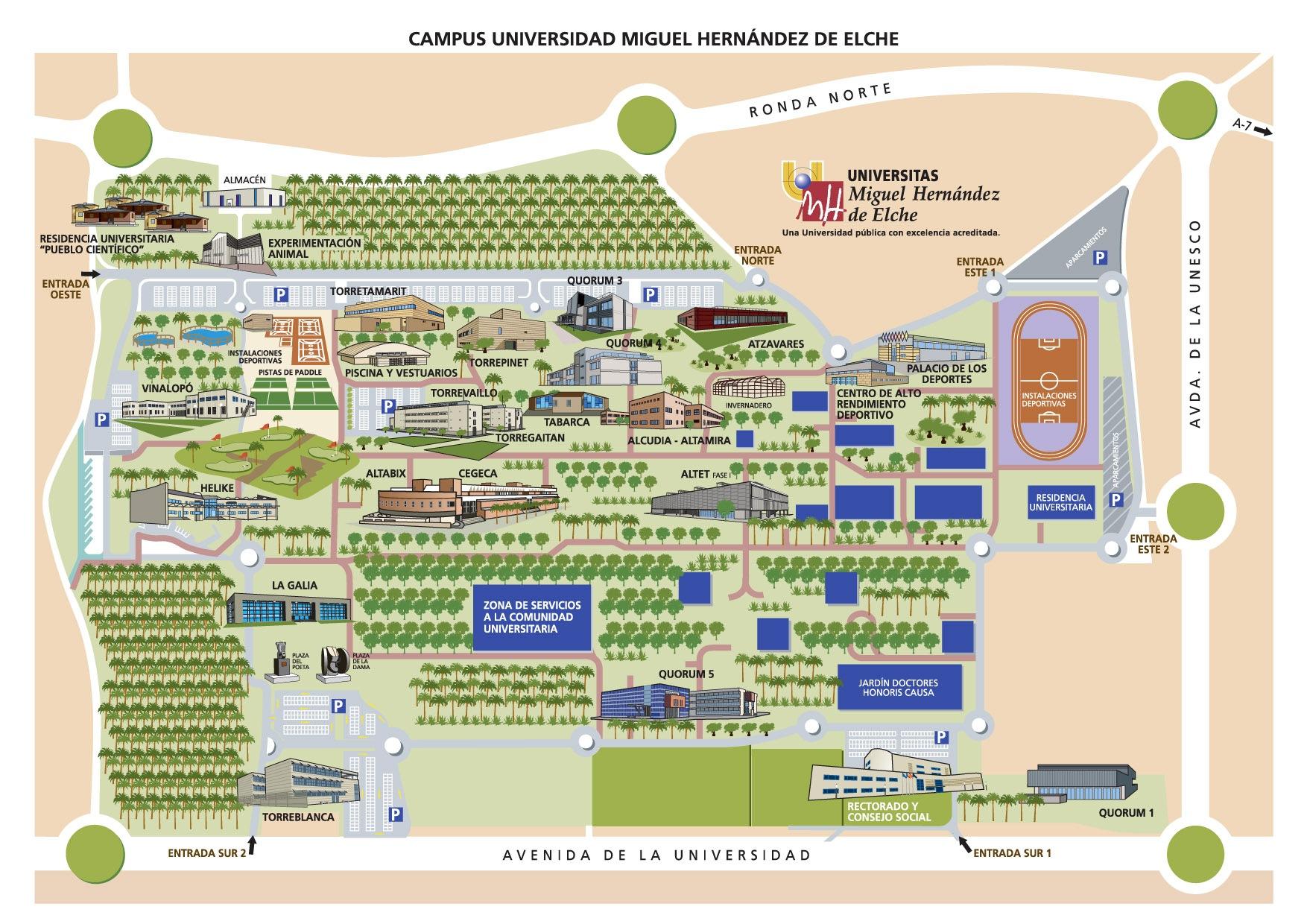 Plano Campus de Elche UMH